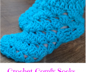 Crochet Comfy Socks Step By Step Video Tutorial