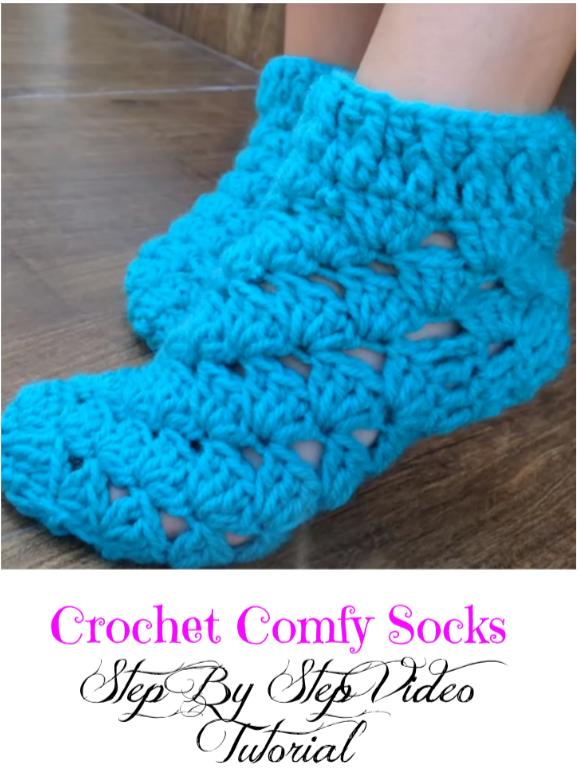 crochet comfy socks