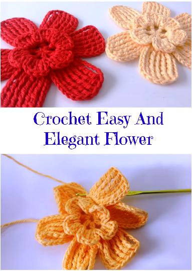 crochet easy and elegant flower