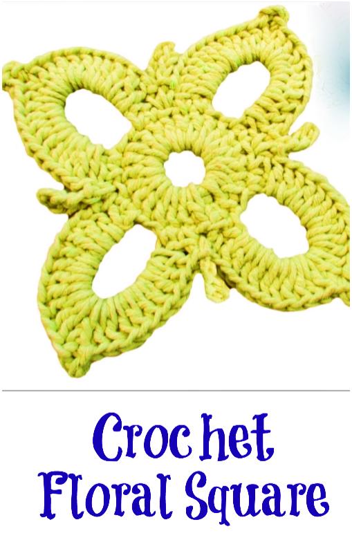 crochet floral square