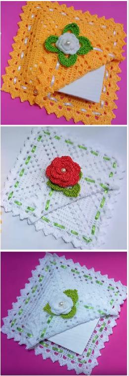 crochet napckin holders