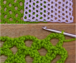 Double Crochet Net Stitch