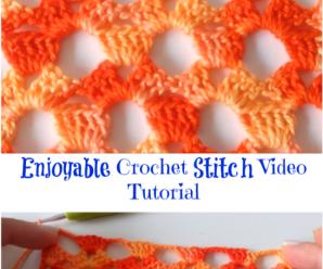 Enjoyable Crochet Stitch Video Tutorial