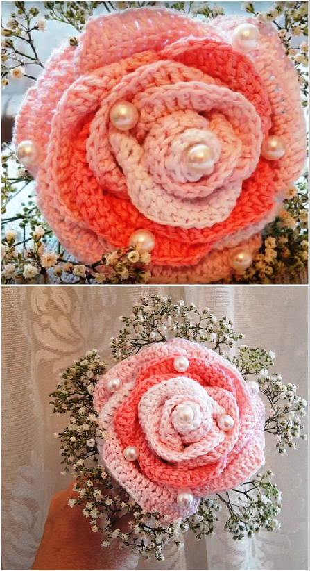 super easy flower rose