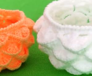 Crochet Marshmallow Stitch Bowl