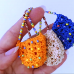 Mini Crochet Bag With Beads
