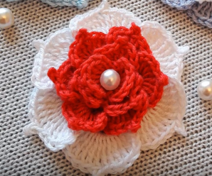 Crochet Very Easy Rose Flower