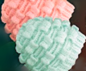 Crochet Marshmallow Stitch 3 D Hat