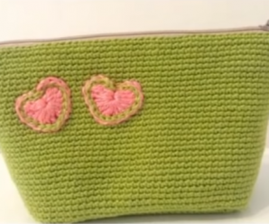 DIY Crochet Purse With Heart