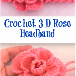 Crochet 3 D Rose Headband