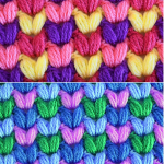 Crochet Colorful Puff Stitch