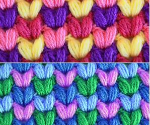 Crochet Colorful Puff Stitch