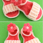 Crochet Baby Sandals With Flowers