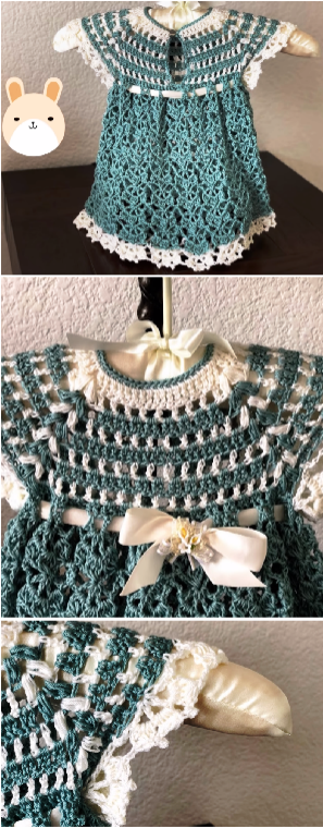 crochet lovely baby girl dress