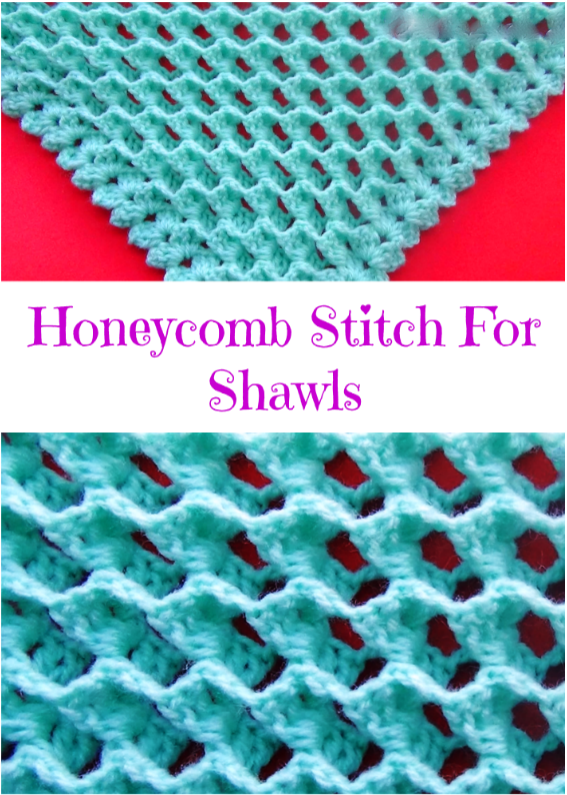Honeycomb Stitch For Shawls Crochet Ideas