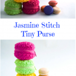Crochet Tiny Macaron Purse