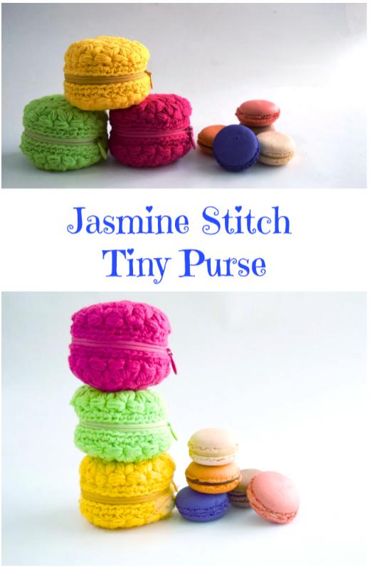 jasmine stitch tiny purse