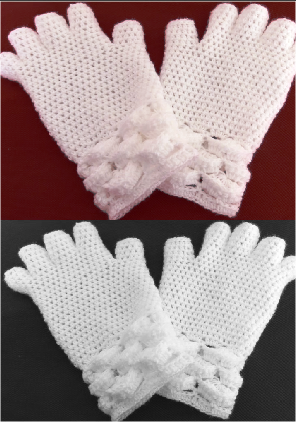 marshmallow stitch 3 d gloves