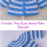 Crochet Very Easy Baby Jersey Video Tutorial