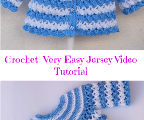 Crochet Very Easy Baby Jersey Video Tutorial