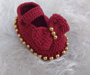 Crochet Baby girl Shoes