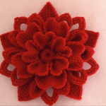 Crochet 3 D Gorgeous Flower
