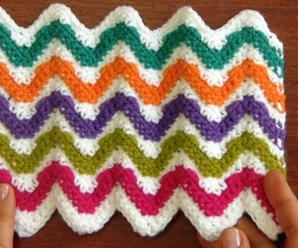Crochet Zigzag Heart Stitch (Two Sides)