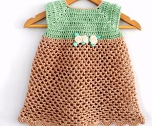Crochet Baby Dress In All Sizes