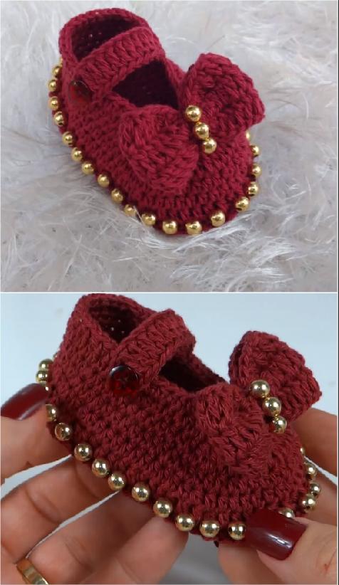 Crochet Baby Girl Shoes Crochet Ideas