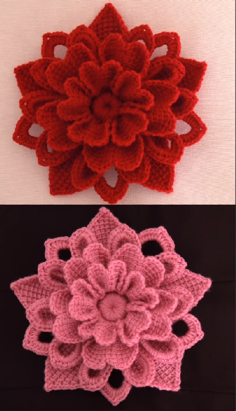 crochet gorgeous flower
