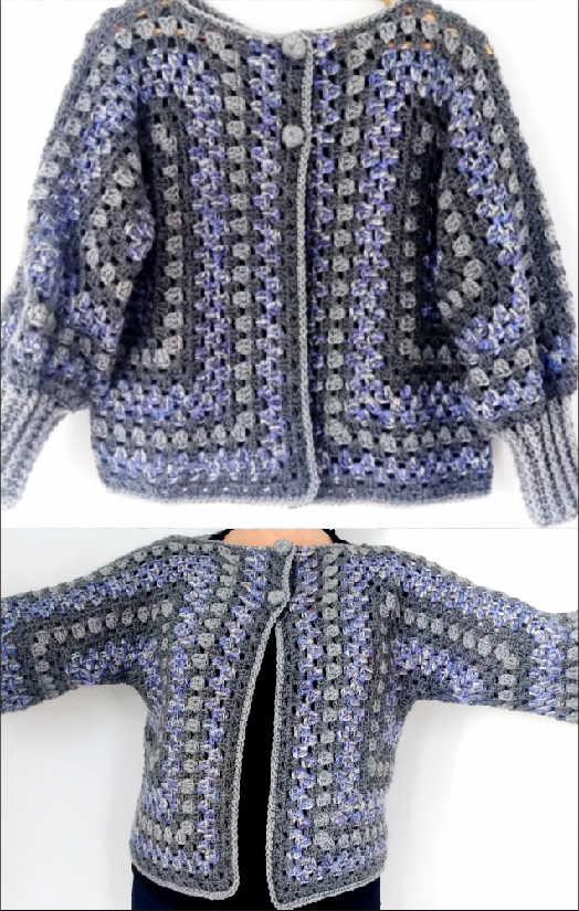 crochet stylish jacket