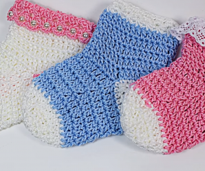 Fast And Easy Crochet Baby Socks