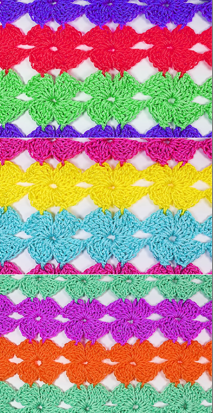 4 petal flower stitch