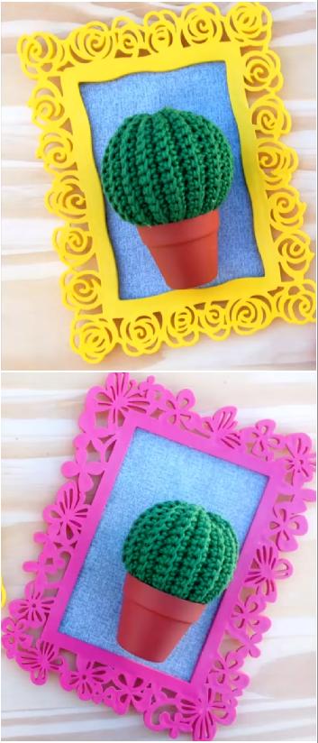 mini cactus crochet