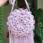 Crochet Crocodile Stitch Round Bag