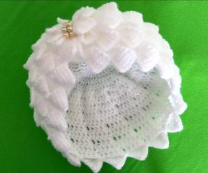 Crochet 3 D Beanie Hat