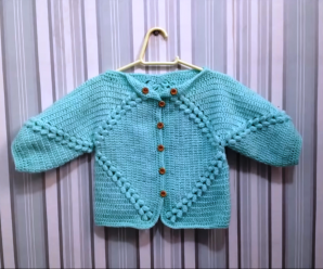 Crochet Baby Jacket From 3 To 6 Months
