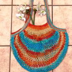 Crochet French Market Bag