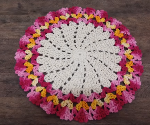 Crochet Multicolored Doily