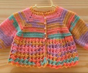 How To Crochet Beautiful Baby Jacket