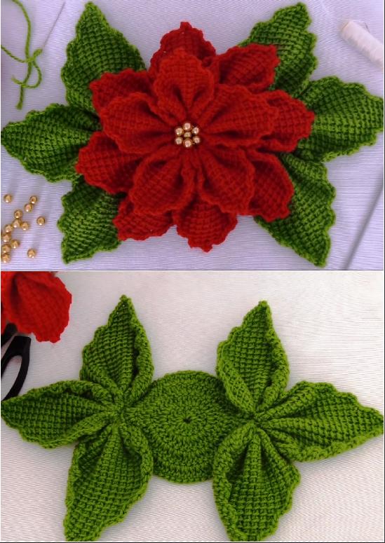 christmas 3d flower