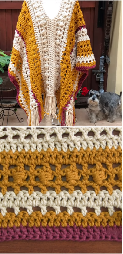 crochet chunky poncho