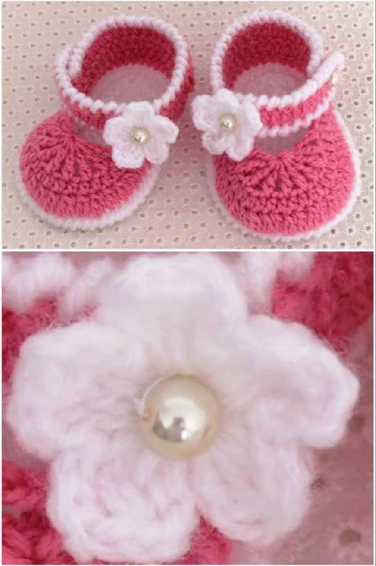 crochet cute baby shoes