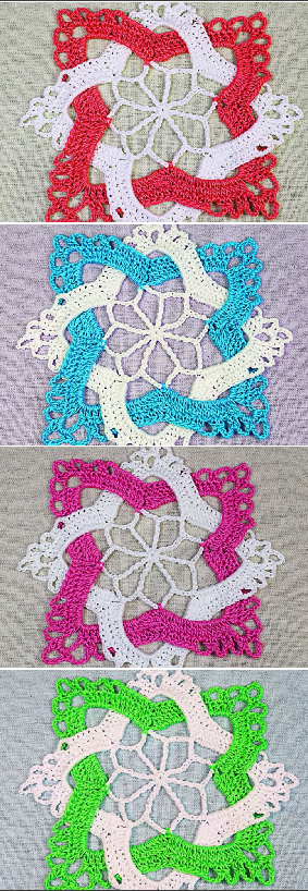 crochet interlaced granny square