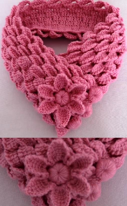 leaf braids scarf