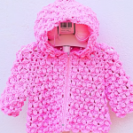 Crochet Hooded Jacket