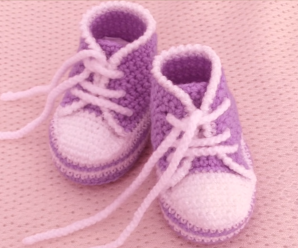 Crochet Fast And Comfortable Baby Shoes