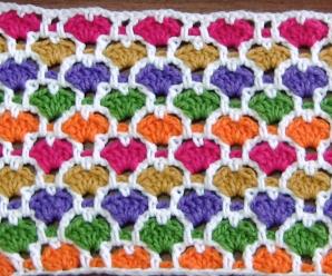 Crochet Reversible Heart Stitch