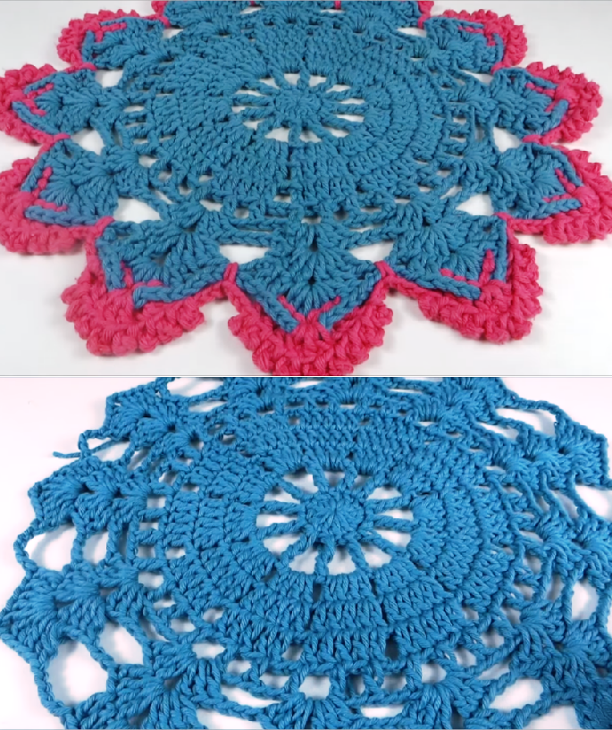 Fast And Easy Colorful Doily