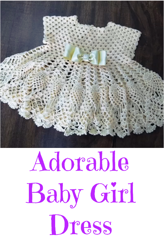 crochet adorable baby girl dress